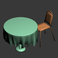3d max table chair