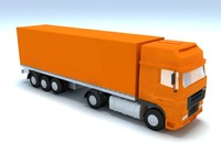 3d model truck container