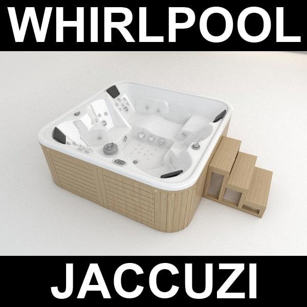 pool whirlpool 3d model