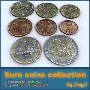 euro coins collections 3d 3ds