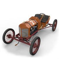 3d model t dirt track racer