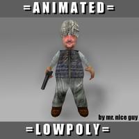 free fat terrorist 3d model