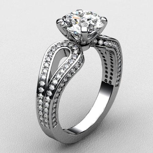 3d model ring white gold
