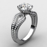 3d model ring white gold