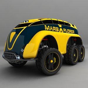 mars vehicle 3d max