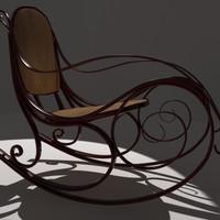 3d rocking chair