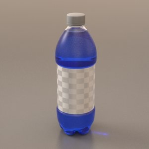 20oz soda bottle 3d model