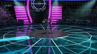 3d television millionaire studio scene model