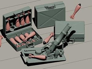 3d model wwii german 5cm leichta