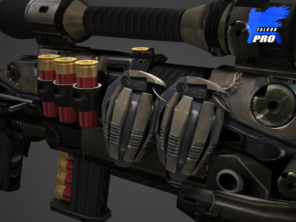 heavy assault gun 3d model
