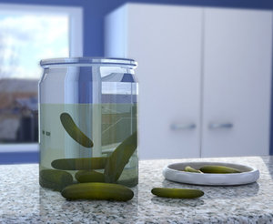 glass jar pickles 3d model