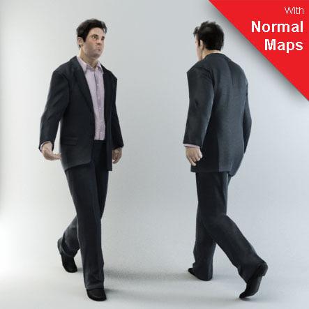 human characters 3 3d model
