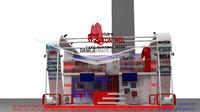 hidrokontrol exhibition stand design 3d model