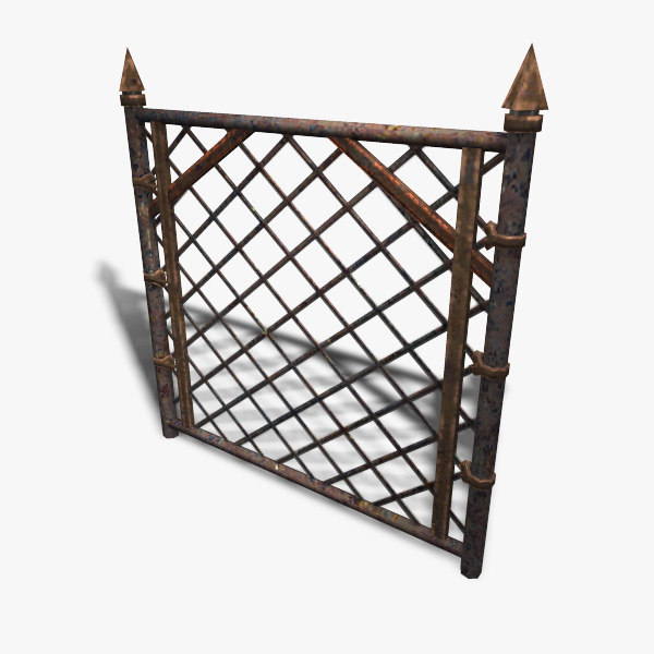 3d low-poly chain-link model