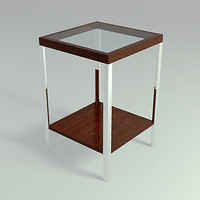 3d end table - d model