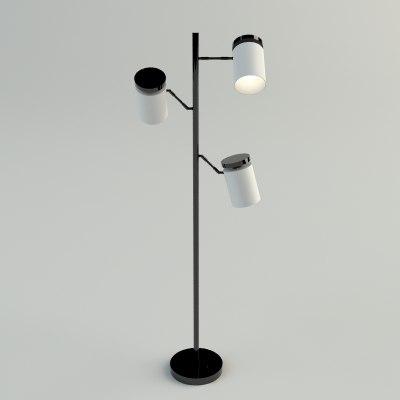3d floor lamp - materials model