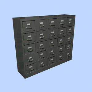3d model of filing cabinet