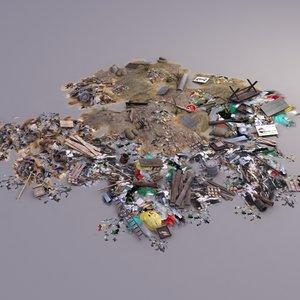 3d garbage dump model
