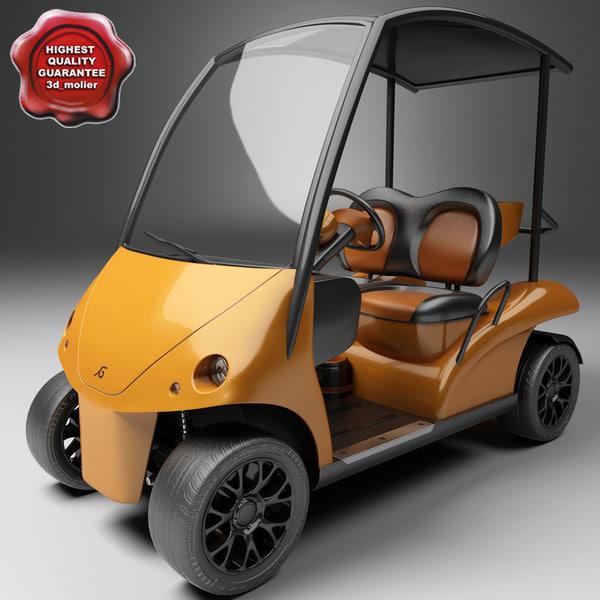 golf car garia 3d model