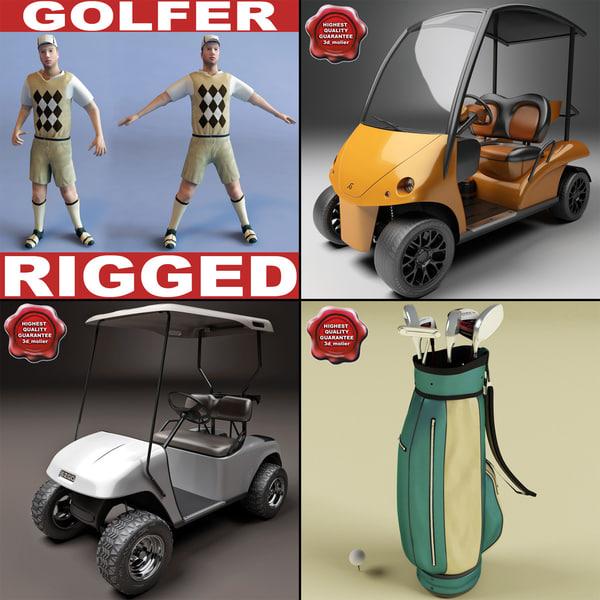 golf set car 3d max