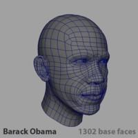 head president barack obama 3d model