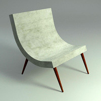 3ds max curve lounge chair -