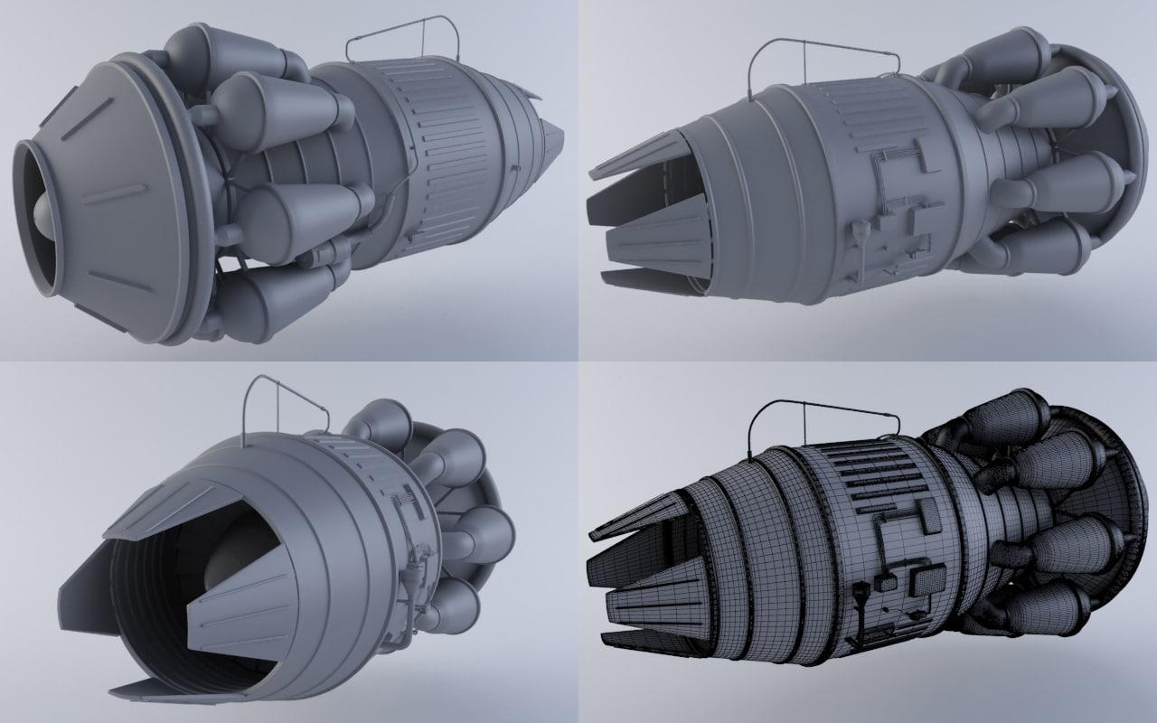 jet engine mkiii 3d max