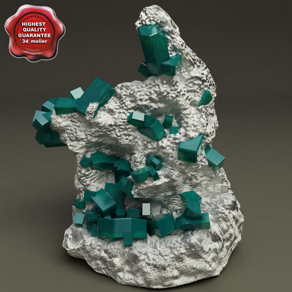 mineral dioptase 3d max