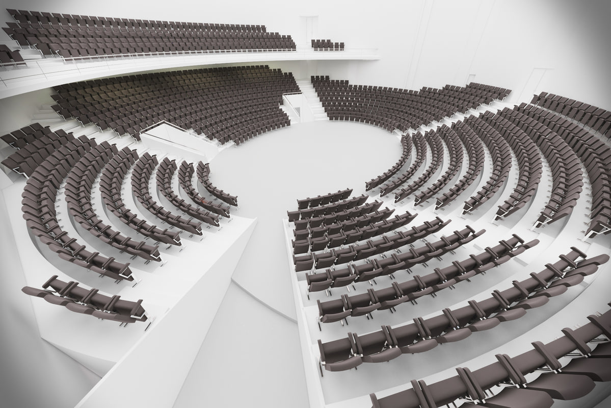 3d model interior seating new london