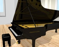 steinway grand piano 3d model