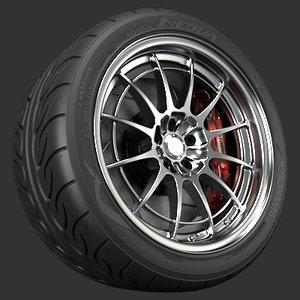 3ds max enkei nt03 m wheel