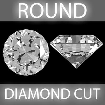 brilliant diamond cut 3d model