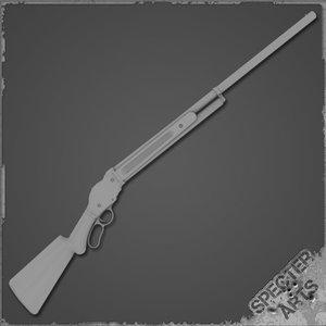 1887 shotgun 3d model