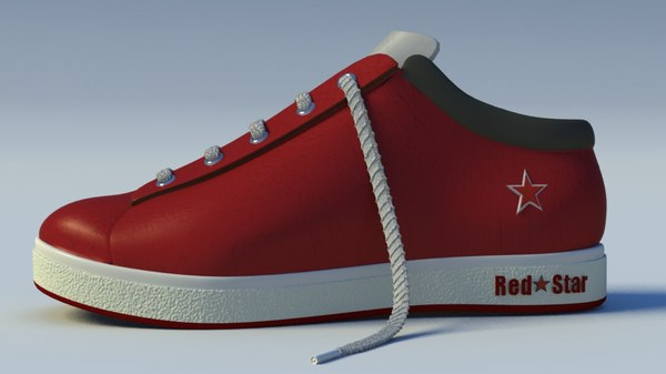 3d model red star trainer