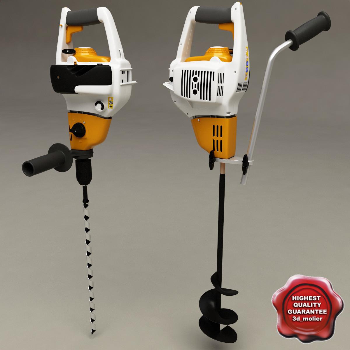 3d model stihl bt 45 drill