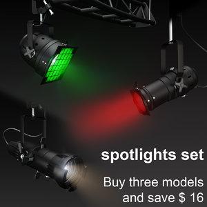 3dsmax theater lights set spotlights