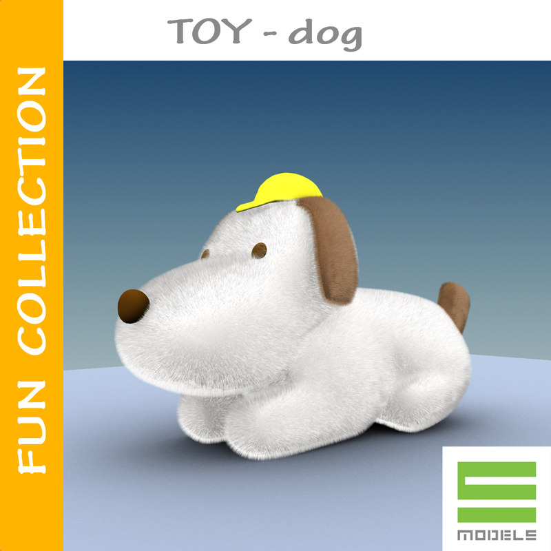 toy dog 01 3d max