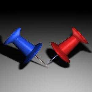 3d thumbtack tacks model