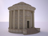 3d roman building model