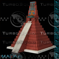 3d model temple iii tikal