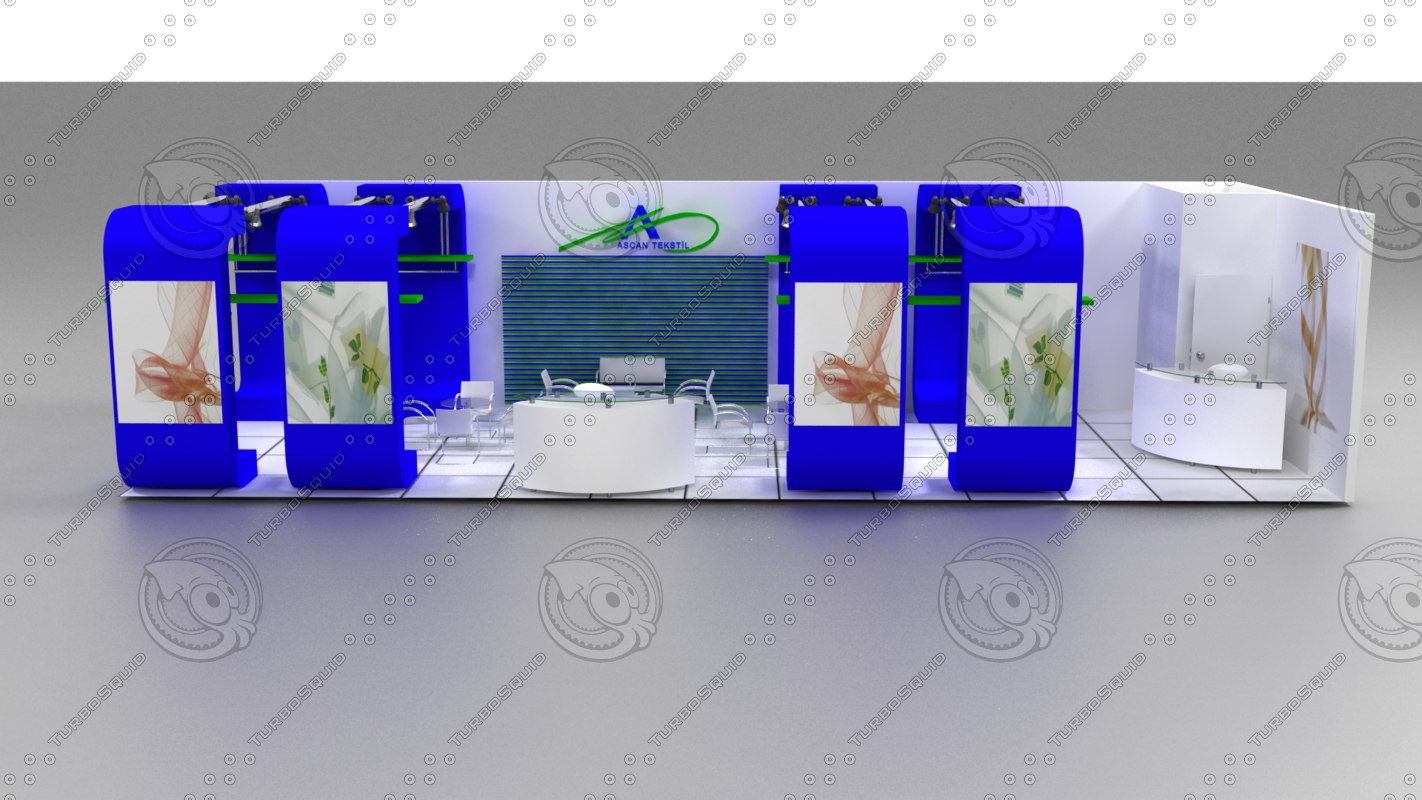 ascan exhibition stand design 3d model