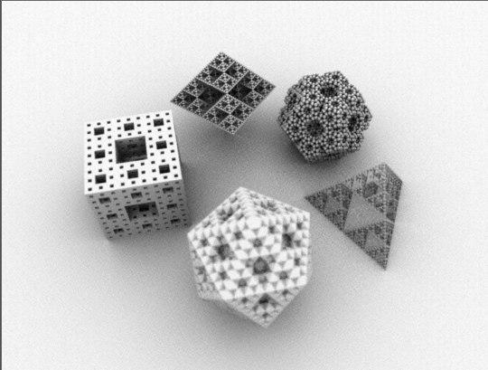 platonic fractal 3d model