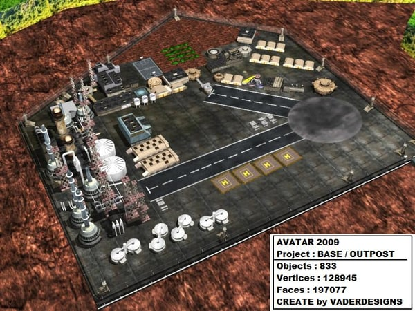 avatar base outpost 3d model