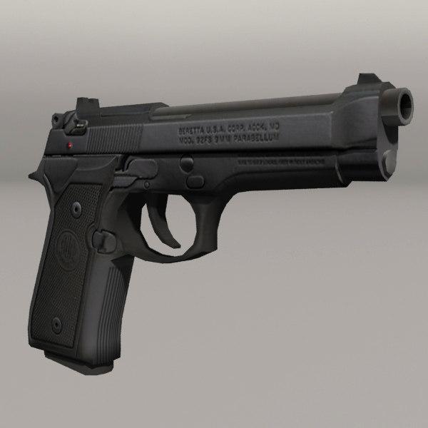3d beretta 92 model