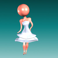 3ds max pretty bride icon girl character