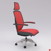 chair office 3d dxf
