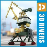 crane harbor 3d model