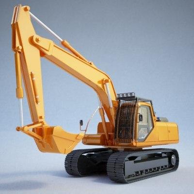 excavator construction - 3d model