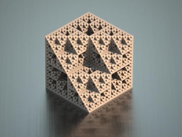 octahedron sierpinski fractal 3ds