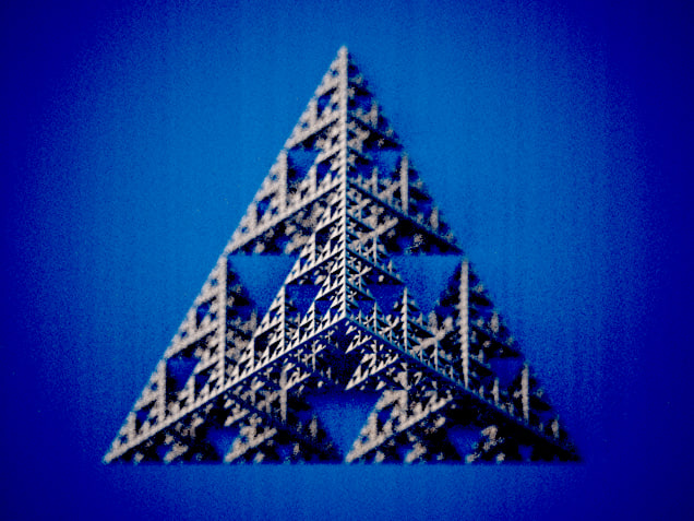 tetrahedron sierpinski fractal obj